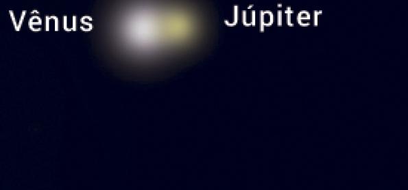Duas noites para ver Vênus ao lado de Júpiter