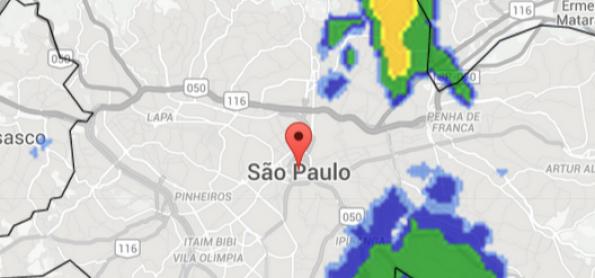 Risco de chuva em SP